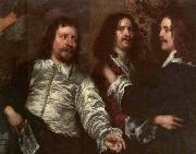 DOBSON, William The Painter with Sir Charles Cottrell and Sir Balthasar Gerbier dfg oil painting